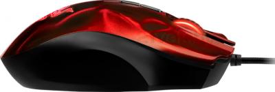 Мышь Razer Naga Hex (красный) - вид сбоку