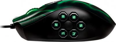 Мышь Razer Naga Hex (зеленый) - вид сбоку