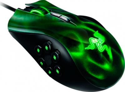 Мышь Razer Naga Hex (зеленый) - общий вид