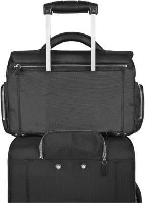 Сумка для ноутбука Piquadro Link (CA1618LK/BLU2) - крепление на чемодане