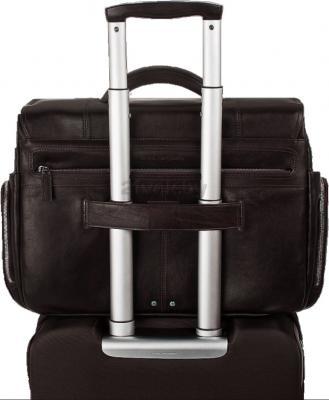 Сумка для ноутбука Piquadro Link (CA1903LK/TM) - крепление на чемодане