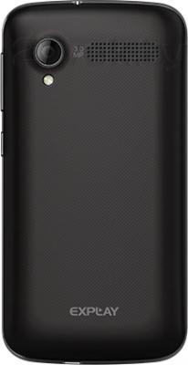 Смартфон Explay Atom (черный) - задняя панель
