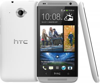 Смартфон HTC Desire 601 Dual (White) - общий вид с задней и боковой панелями