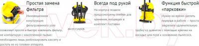 Пылесос Karcher MV 4 Premium / WD 4 Premium (1.348-151.0) - особенности модели