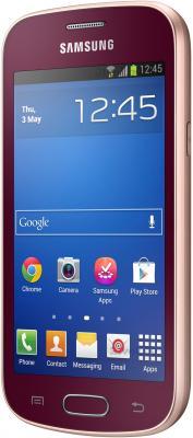 Смартфон Samsung Galaxy Trend Lite / S7390 (красный) - полубоком