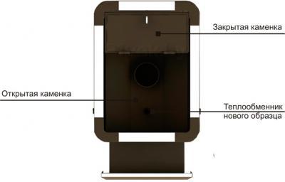 Печь-каменка 1ВПК ЕНИСЕЙ-36 Премиум Т/О (ПБ.Е36.П.ТОУ) - вид сверху