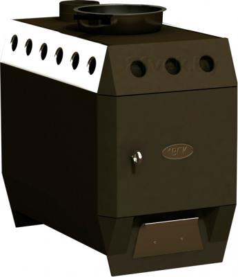 Печь отопительно-варочная 1ВПК ГЕСТА-2 АКВА (ПОВ.Г200.АК) - общий вид