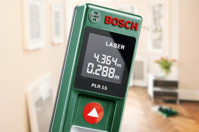 Дальномер лазерный Bosch PLR 15 (0.603.672.021) - вид спереди