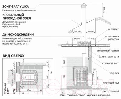 Печь-каменка Теплодар Сибирский Утес 20 ЛП Профи