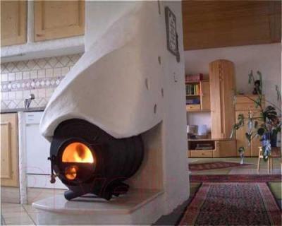 Печь отопительная Бренеран АОТ-14 тип 02 - в интерьере
