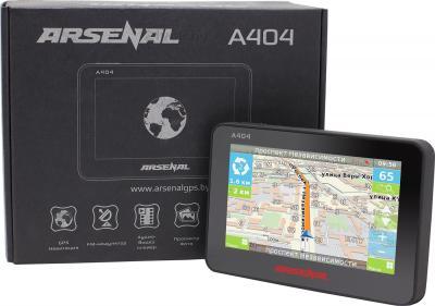 GPS навигатор Arsenal GPS A404 - с коробкой