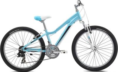 Велосипед Fuji Dynamite 24 Comp Girls (12, Lihgt Blue, 2014) - общий вид