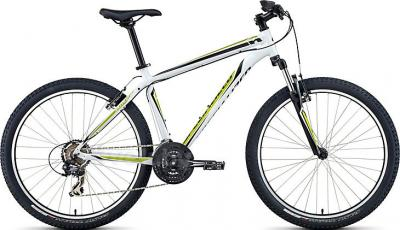 Велосипед Specialized HardRock (M, White-Lime-Black, 2014) - общий вид