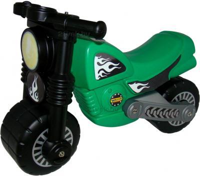 Каталка детская Полесье Моторбайк 40480 (зеленая) - общий вид