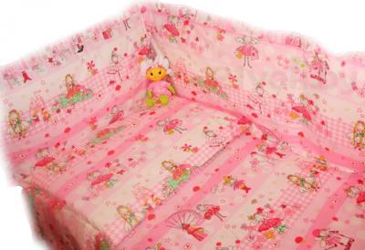 Комплект в кроватку Ночка Маленькая модница 3 - общий вид