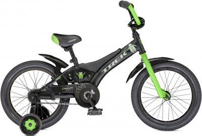 Детский велосипед Trek Jet 16 Boy's (16, Black-Green, 2014) - общий вид