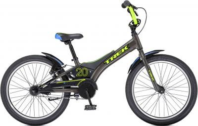 Детский велосипед Trek Jet 20 Boy's (20, Gray-Green, 2014) - общий вид