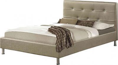 Полуторная кровать Королевство сна Rizz 120x200 (античный золотой с кристаллами) - общий вид