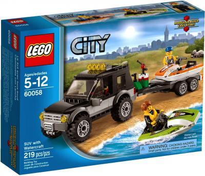 Конструктор Lego City Внедорожник с катером (60058) - упаковка