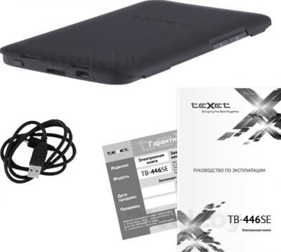 Электронная книга TeXet TB-446SE (Gray) - комплектация