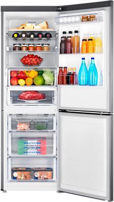 Холодильник с морозильником Samsung RB29FERNCSS/RS - пример заполненного холодильника