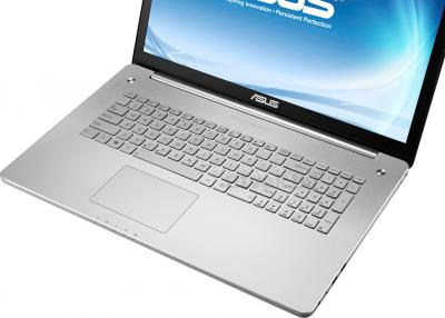 Ноутбук Asus N750JV-T4202H - клавиатура