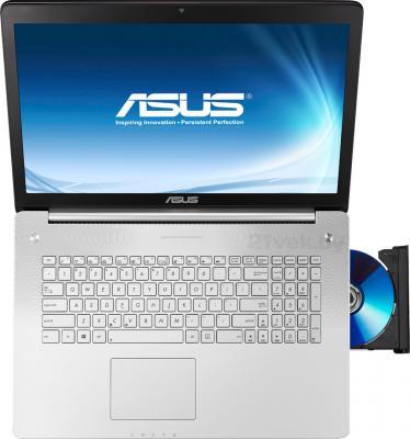Ноутбук Asus N750JV-T4202H - вид сверху