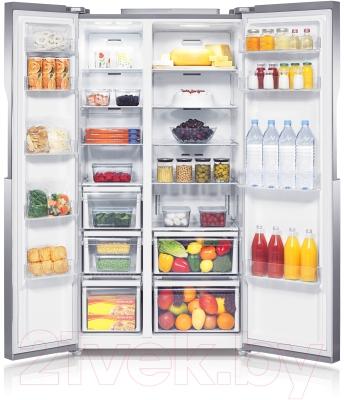 Холодильник с морозильником Samsung RS552NRUASL/WT - внутри