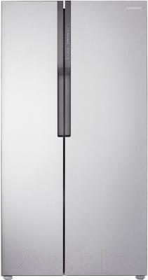 Холодильник с морозильником Samsung RS552NRUASL/WT - фронтальный вид