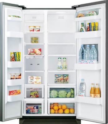 Холодильник с морозильником Samsung RSA1VHMG1/BWT - внутри