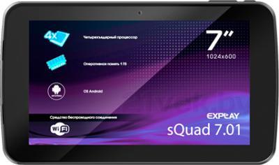 Планшет Explay sQuad 7.01 (Blue) - фронтальный вид