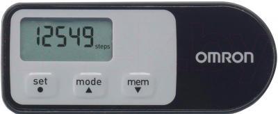 Шагомер Omron Walking Style 2.1 HJ-321-E (Black) - вид спереди