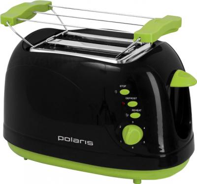 Тостер Polaris PET 0706LB (Black-Green) - общий вид