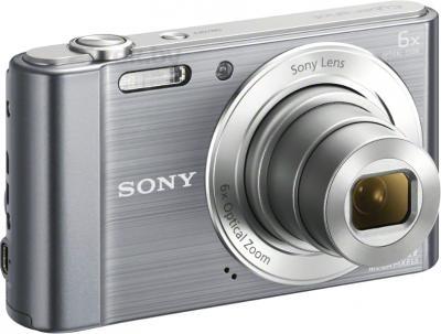 Компактный фотоаппарат Sony Cyber-shot DSC-W810 (серебристый) - общий вид