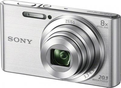 Компактный фотоаппарат Sony Cyber-shot DSC-W830 (серебристый) - общий вид