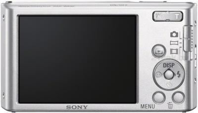 Компактный фотоаппарат Sony Cyber-shot DSC-W830 (серебристый) - вид сзади