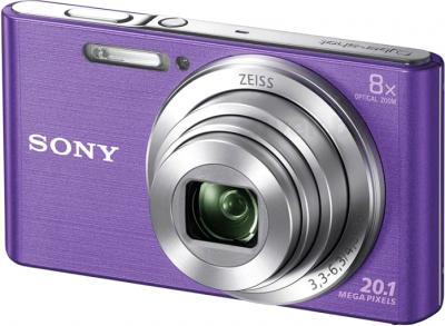 Компактный фотоаппарат Sony Cyber-shot DSC-W830 (фиолетовый) - общий вид
