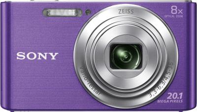 Компактный фотоаппарат Sony Cyber-shot DSC-W830 (фиолетовый) - вид спереди