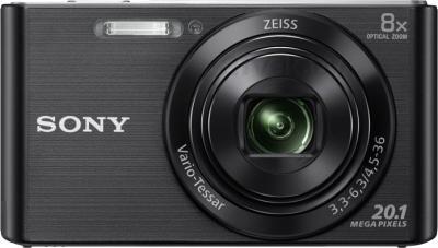 Компактный фотоаппарат Sony Cyber-shot DSC-W830 (черный) - вид спереди