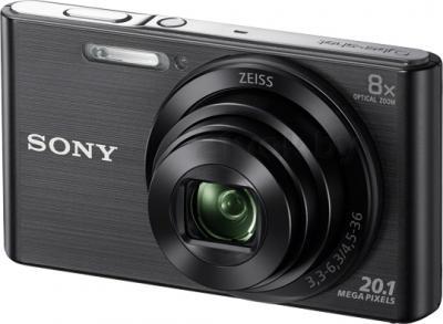 Компактный фотоаппарат Sony Cyber-shot DSC-W830 (черный) - общий вид