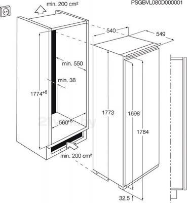 Морозильник AEG AGN71800F0 - схема