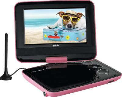 Портативный DVD-плеер BBK PL742TI (Pink) - общий вид