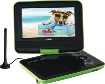 Портативный DVD-плеер BBK PL742TI (зеленый) - общий вид