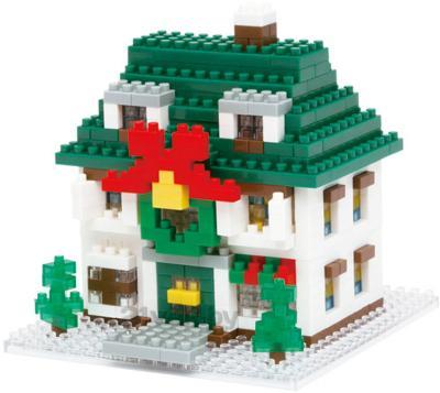 Микроконструктор Kawada Nanoblock Рождественский домик - общий вид