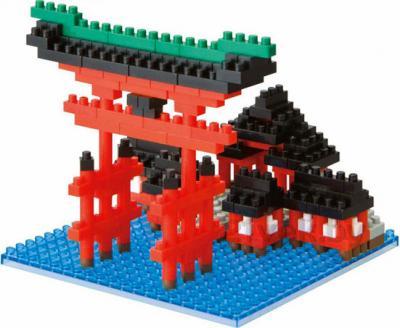 Микроконструктор Kawada Nanoblock Храм Ицукусима (NBH 017) - общий вид