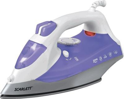 Утюг Scarlett SC-SI30K02 (бело-фиолетовый) - общий вид
