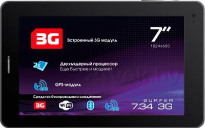 Планшет Explay Surfer 7.34 3G (Black) - фронтальный вид
