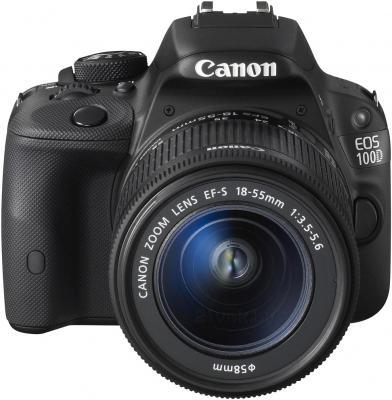 Зеркальный фотоаппарат Canon EOS 100D Kit 18-55mm III (Black) - вид спереди