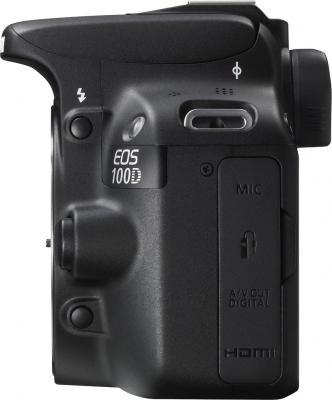 Зеркальный фотоаппарат Canon EOS 100D Kit 18-55mm III (Black) - вид сбоку