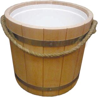 Ведро деревянное Мануфактура Шингарёв и Ко ВПВ-15-О-Н (Ольха) - реальный цвет модели может отличаться от цвета, представленного на фото